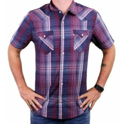 Levis リーバイス ファッション アウター NEW LEVIS MENS CLASSIC COTTON CASUAL BUTTON UP PLAID INDIGO RED RDCR-3LYSW6102
