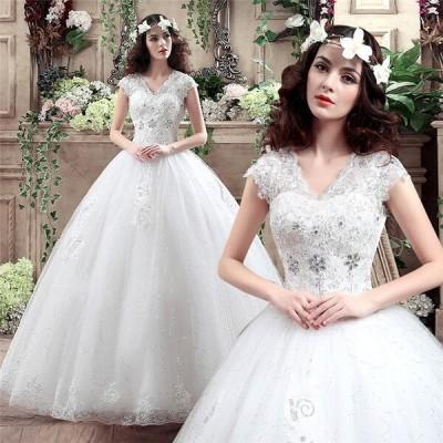 花嫁 ウェディングドレス 白ドレス プリンセスドレス 花嫁の結婚式 結婚式 二次会 ドレス エンパイアドレス 大量注文にも対応しています。