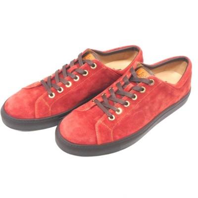 IDAe431271 ロブス メンズ 靴/スニーカー スウェード レッド系 #41(約25.5cm) 未使用 Lobb's 【質みなみ・到津店】