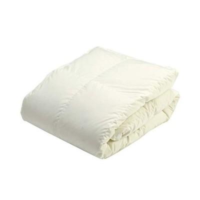 京都 西川 ダウンケット シングル ベッド専用 日本製 抗菌加工 軽量生地 ダックダウン85% 0.3k