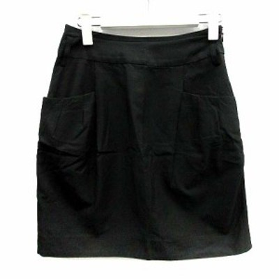【中古】シップス SHIPS スカート タイト ミニ タック S 黒 /YI2 ■SM レディース