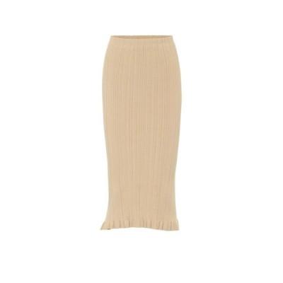 アクネ ストゥディオズ Acne Studios レディース ひざ丈スカート スカート Ribbed-knit midi skirt Sand Beige