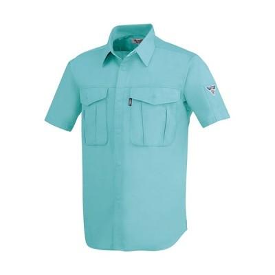 ジーベック(XEBEC) プリーツロンミニ半袖シャツ 67/ミントグリーン 1292 作業服 作業着 ワークウエア ワークウェア メンズ レディース
