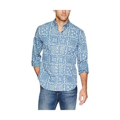 Reyn Spooner メンズ オリジナル ラハイナ 長袖 ハワイアンシャツ US サイズ: X-Large カラー: ブルー