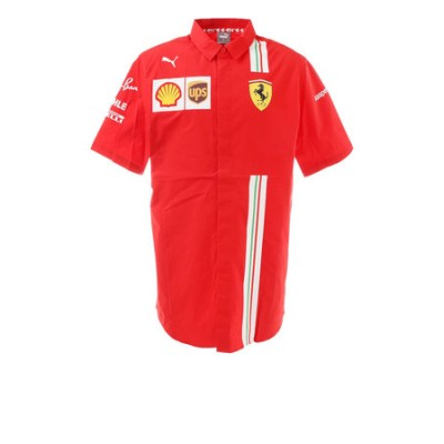 プーマ(PUMA)フェラーリ チーム 半袖ポロシャツ 763034 02 RED