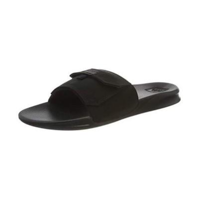 Reef Men's Sandals  Stash Slide  Black/Black  Size 12
