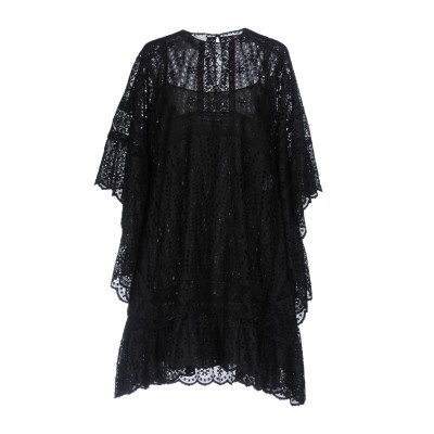 ヴァレンティノ VALENTINO ミニワンピース&ドレス ブラック 40 93% コットン 7% ポリエステル ミニワンピース&ドレス