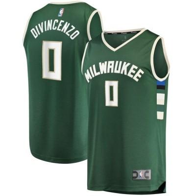 ファナティクス ブランデッド メンズ Tシャツ トップス Donte DiVincenzo Milwaukee Bucks Fanatics Branded Fast Break Replica Player Jersey