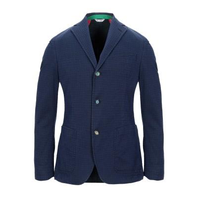 マニュエル リッツ MANUEL RITZ テーラードジャケット ブルー 46 コットン 54% / ポリエステル 30% / レーヨン 14% /