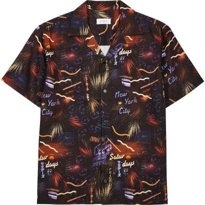 サタデーニューヨーク Saturdays NYC メンズ シャツ トップス Black Printed Twill Shirt Black