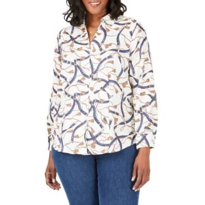 フォックスクラフト レディース シャツ トップス Lauren Belts & Tassels Button Front Shirt MULTI