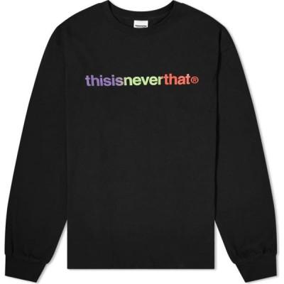 ディスイズネバーザット thisisneverthat メンズ 長袖Tシャツ トップス long sleeve t-logo tee Black