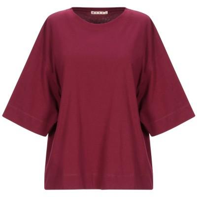 マルニ MARNI T シャツ ガーネット 36 コットン 99% / ポリウレタン 1% T シャツ