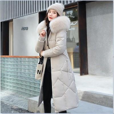安い フード付き 上着 ダウンジャケット 学生 中綿 アウター体型カバー ゆったり フォーマル 通勤 OL オフィス レディース ダウンコート 防寒 通学 ロングコート