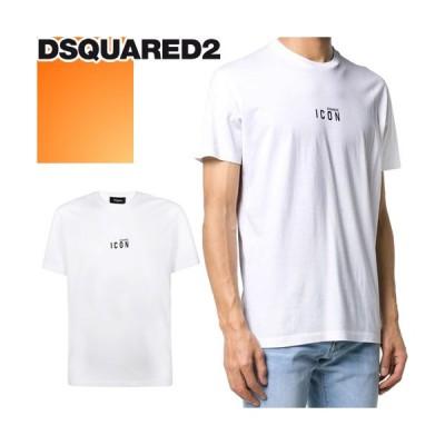 ディースクエアード DSQUARED2 Tシャツ メンズ 半袖 クルーネック 丸首 ロゴ プリント 大きいサイズ ブランド 白 ホワイト S79GC0010 S23009