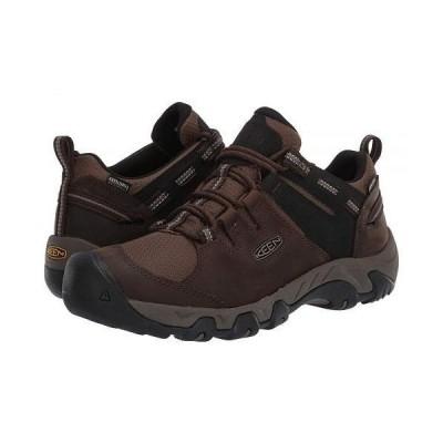 Keen キーン メンズ 男性用 シューズ 靴 ブーツ ハイキング トレッキング Steens Waterproof - Canteen/Brindle