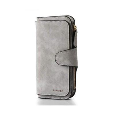 女性用ウォレット ファッション PUレザー 財布 可愛い クラッチ 長いです レディース クレジットカード 保有者 ウォレットオーガナイザー (グレー