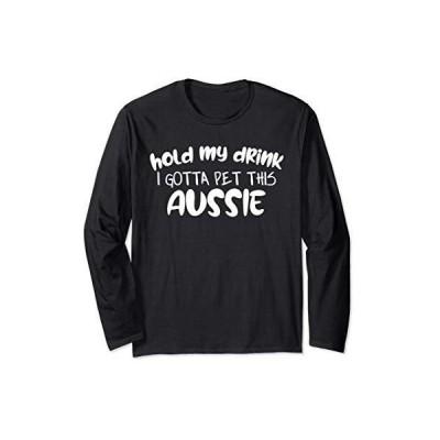 犬の恋人オージーパパママのためのおかしいオーストラリアンシェパードのギフト  メンズ L :長袖Tシャツ
