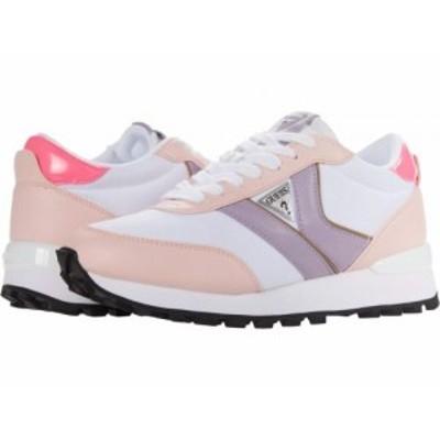 GUESS ゲス レディース 女性用 シューズ 靴 スニーカー 運動靴 Samsin White/Light Pink【送料無料】
