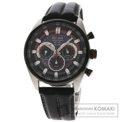 SEIKO セイコー VS75-X002 パルサー 腕時計  ステンレススチール 革 メンズ  中古品