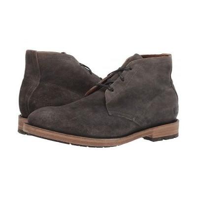 Frye フライ メンズ 男性用 シューズ 靴 ブーツ チャッカブーツ Bowery Chukka - Faded Black Distressed Oiled Suede