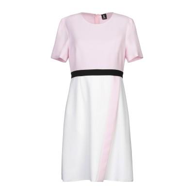 1-ONE ミニワンピース&ドレス ピンク 40 ポリエステル 94% / ポリウレタン 6% ミニワンピース&ドレス