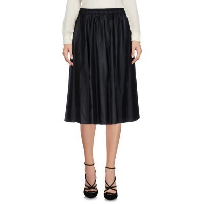ELIE TAHARI ひざ丈スカート ブラック M 98% ナイロン 2% ポリウレタン ひざ丈スカート