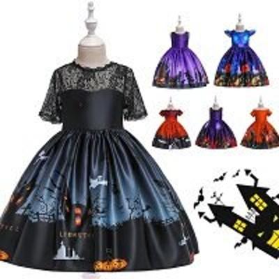 子供ドレス ハロウィン衣装 女の子ドレス 子供ワンピース 魔女 悪魔 コスプレ衣装 ハロウイン変装 可愛い ウィッチ プリンセス コスチューム キッズドレス ワンピース コスプレ衣装 ドレス