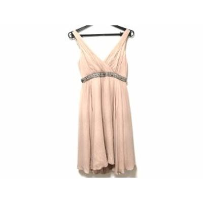 グレースクラス Grace Class ドレス サイズ36 S レディース ベージュ ビジュー【還元祭対象】【中古】20200718