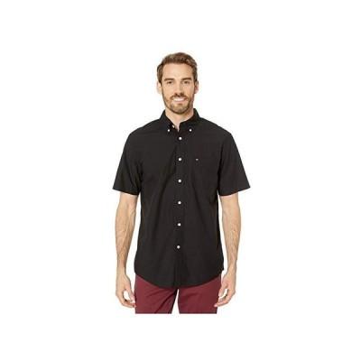 トミー・ヒルフィガー Maxwell Short Sleeve Button Down Shirt メンズ シャツ トップス Deep Knit Black