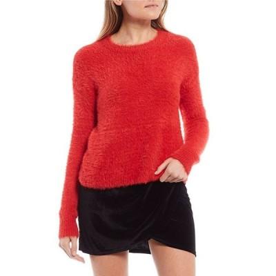 ジービー レディース パーカー・スウェット アウター Round Neck Fuzzy Eyelash Sweater