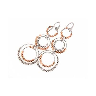 Officina Bernardi スターリング シルバー サークル Dangle Earrings(海外取寄せ品)