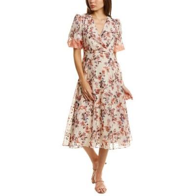 メゾン タラ ワンピース トップス レディース Maison Tara Bubble Midi Dress tan/persimmon