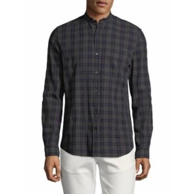 ザディグ&ヴォルテール メンズ カジュアル ボタンダウンシャツ Torro Check Coeur Cotton Sportshirt