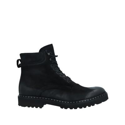 EXIBIT ショートブーツ ブラック 40 牛革(カーフ) 100% ショートブーツ