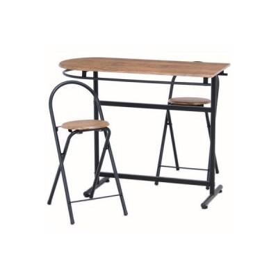 不二貿易 FJ-13899 カウンターテーブル & チェアー 3点セット 3060-1 TH3060-1 (FJ13899)