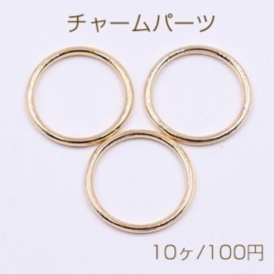 チャームパーツ 線径1.8mm 丸フレーム 21mm ゴールド【10ヶ】