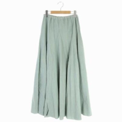 【中古】ロンハーマン CP SHADES コーデュロイスカート フレアマキシ丈 ロング XS ライトグリーン レディース