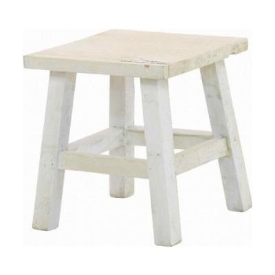 mokuシリーズ『木製フラワースタンド ロースクエア』【IT】ホワイト(#9847300)サイズ:幅21×奥行21×高さ23cm