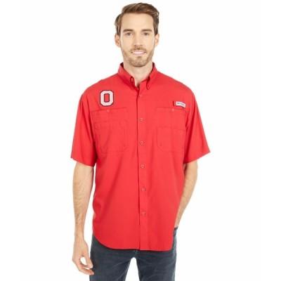 コロンビアカレッジ シャツ トップス メンズ Ohio State Buckeyes Tamiami Short Sleeve Shirt Intense Red