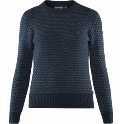 フェールラーベン Fjallraven レディース ニット・セーター トップス Ovik Nordic Sweater Dark Navy