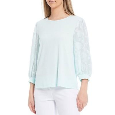 インベストメンツ レディース Tシャツ トップス 3/4 Textured Balloon Sleeve Top