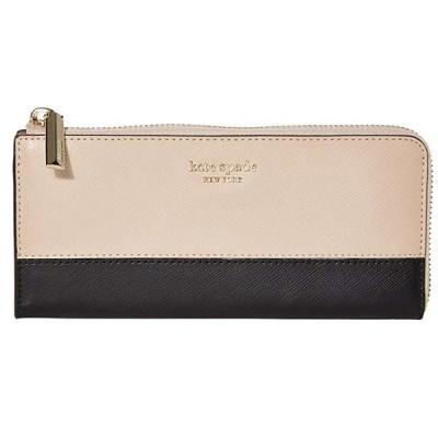 ケイトスペード 長財布 PWRU7851 Kate Spade spencer l zip wallet (WARM BEIGE/BLACK) スペンサー L ジップ ウォレット 財布 (ベージュ/ブラック)