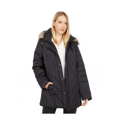 London Fog ロンドンフォグ レディース 女性用 ファッション アウター ジャケット コート ダウン・ウインターコート Short Quilted Puffer Coat w/ Faux Fur ..