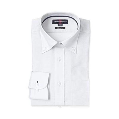 [タカキュー] ワイシャツ 形態安定 ナチュラル ストレッチ スリムフィット カラミ織り 長袖シャツ ビジネス カジュアル (ホワイト M)