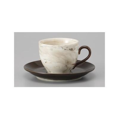 (業務用・カップ&ソーサー)ねりこみ(茶)コーヒー受皿(入数:5)
