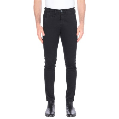 LIU •JO MAN パンツ ブラック 46 コットン 98% / ポリウレタン 2% パンツ