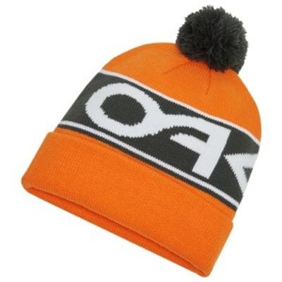 オークリー メンズ 帽子 アクセサリー Oakley Factory Cuff Beanie Bold Orange