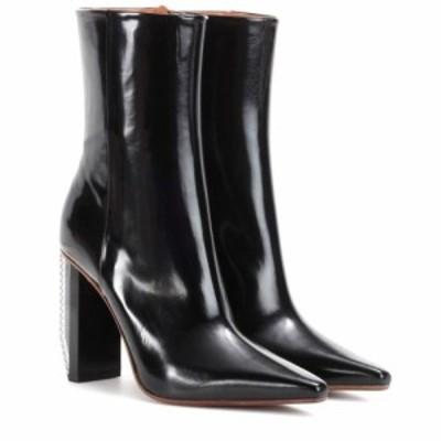 ヴェトモン Vetements レディース ブーツ ショートブーツ シューズ・靴 Leather ankle boots Black Shiny/White (Heel)