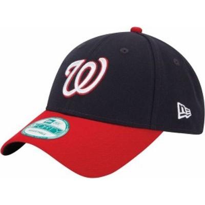 ニューエラ メンズ 帽子 アクセサリー New Era Men's Washington Nationals 9Forty Navy Adjustable Hat
